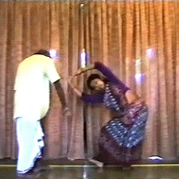 Sushmita Pati with Guru Kelcharan Mohapatra